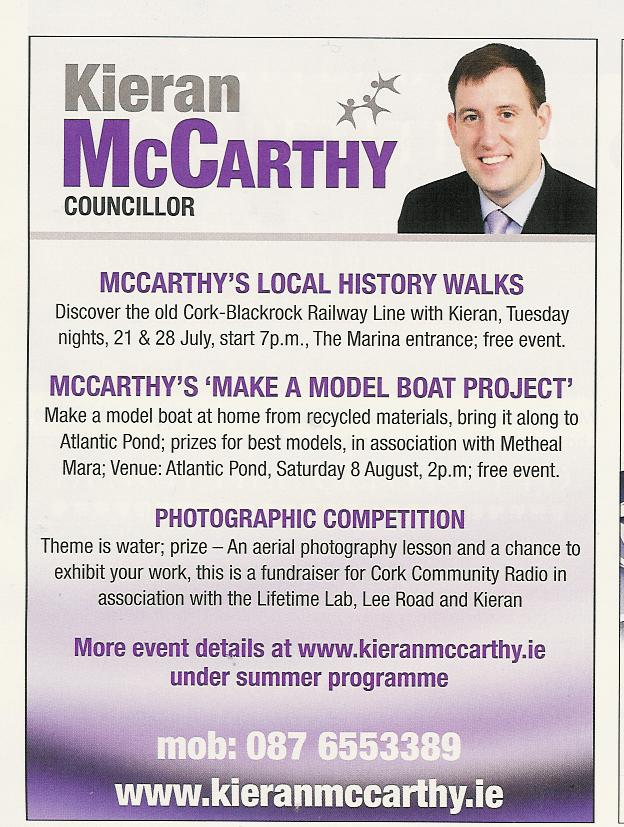 McCarthy's Summer Programme Ad