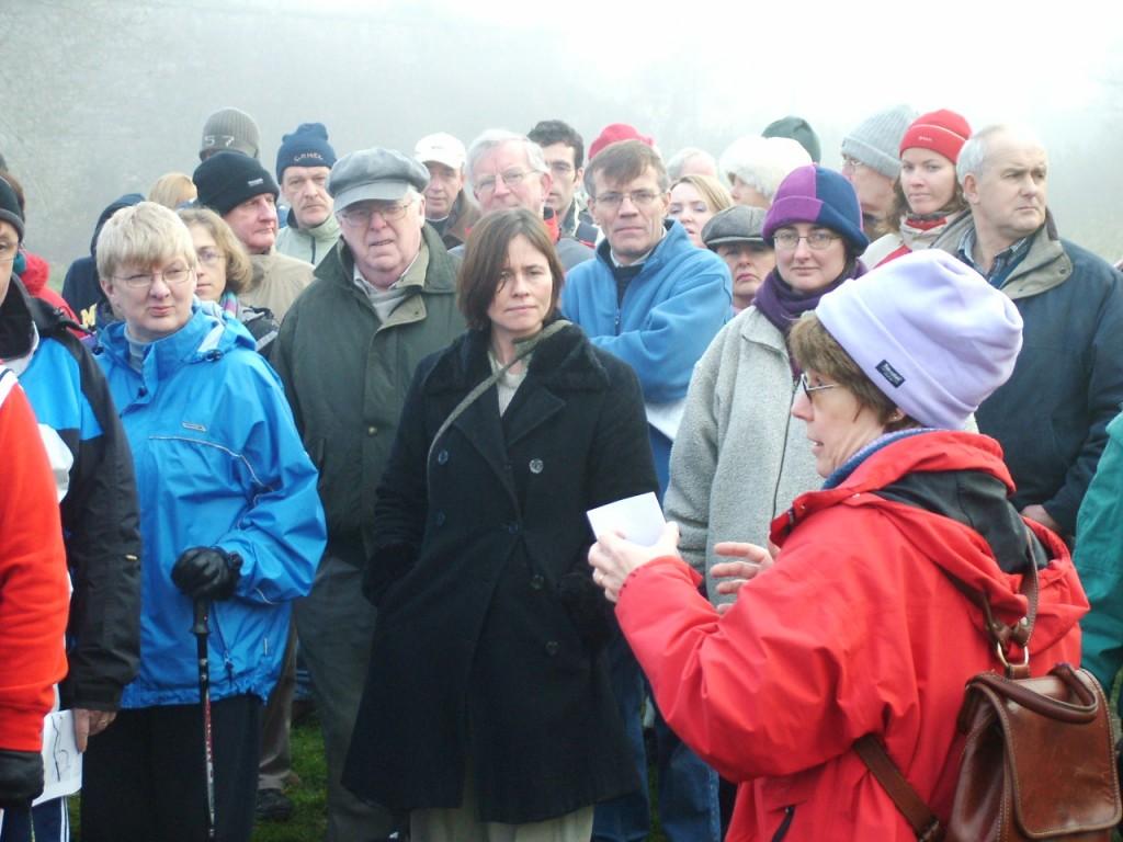 528a. Jenny Webb, local historian leading a field walk in Ballincollig Gunpowder Mills