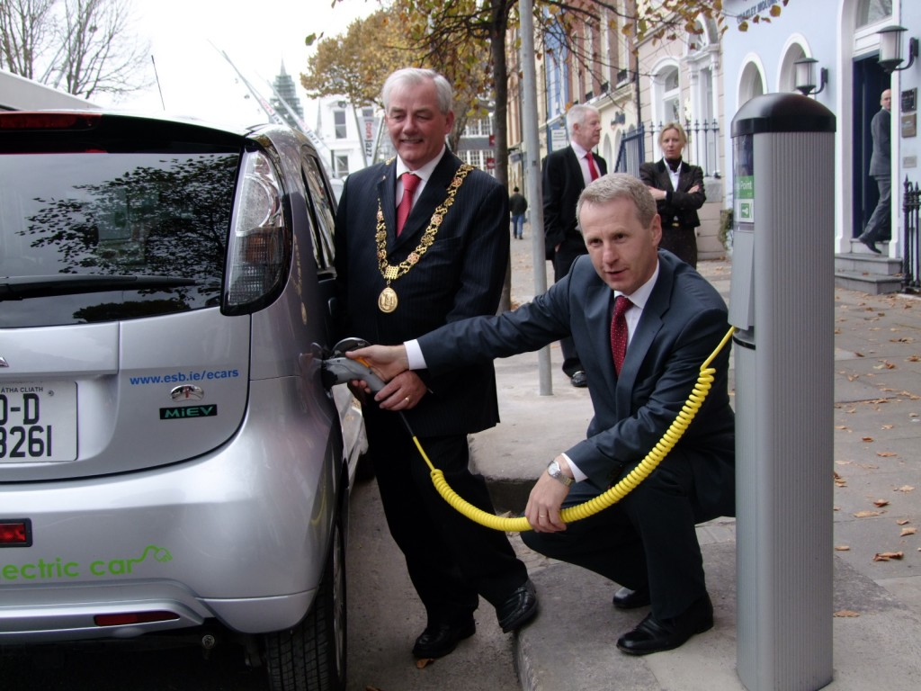 Ecar charging point, South Mall, October 2010