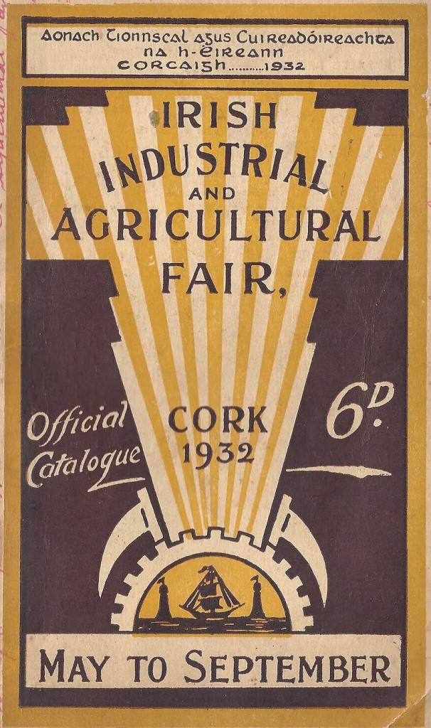 562a. front cover, programme for irish Industrial and Agricultural Fair, Cork 1932