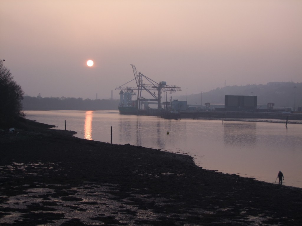 585b. Recent Sunset over River Lee at Blackrock
