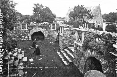 615b. Pilgrims and overgrowth at Gougane Barra c1920