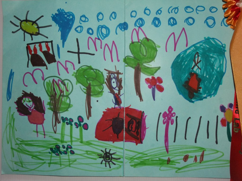 First place, age 4-6, McCarthy's Design a Public Park Art Competition