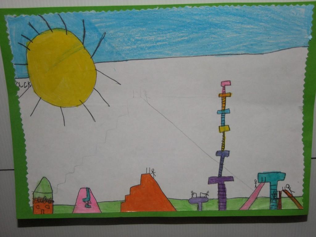 Third place, age 4-6, McCarthy's Design a Public Park Art Competition