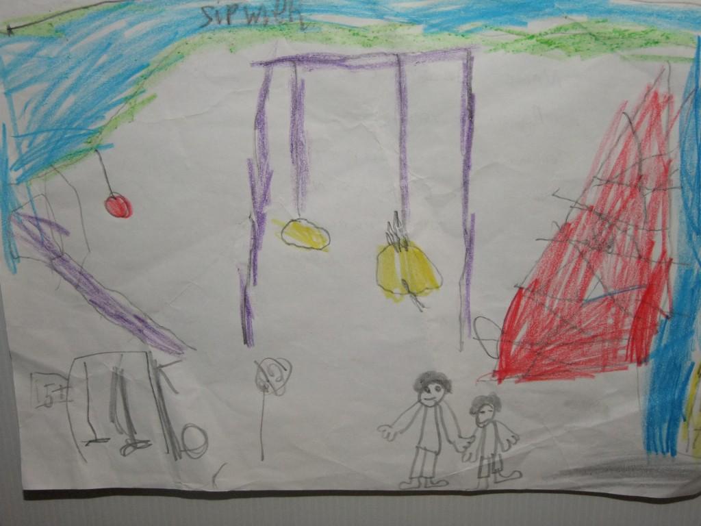 Fourth place, age 4-6, McCarthy's Design a Public Park Art Competition