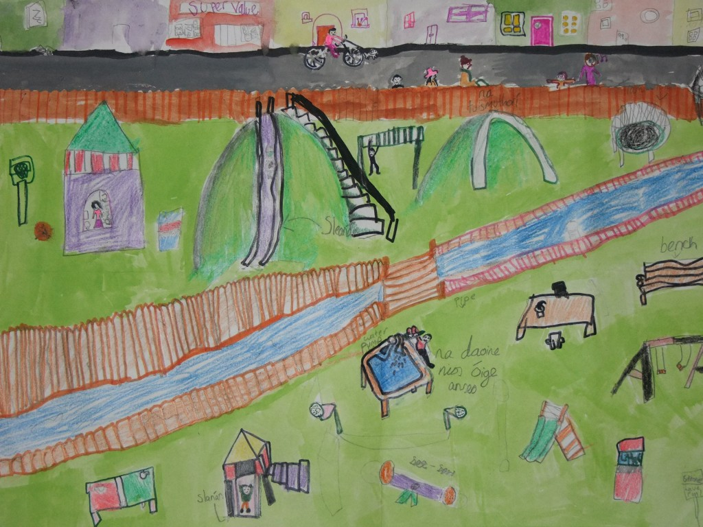 First place, age 7-9, McCarthy's Design a Public Park Art Competition