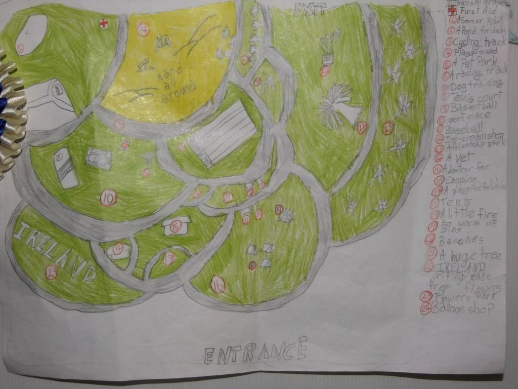 Second place, age 7-9, McCarthy's Design a Public Park Art Competition