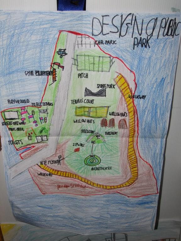 Joint third place, age 7-9, McCarthy's Design a Public Park Art Competition