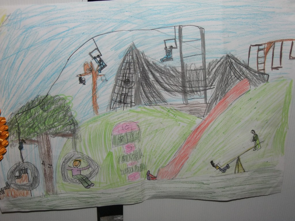 Joint fourth place, age 7-9, McCarthy's Design a Public Park Art Competition