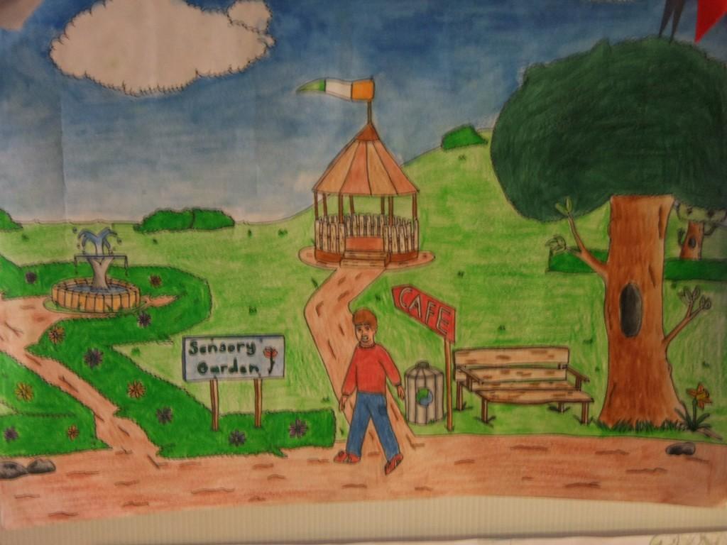 Second place, age 10-12, McCarthy's Design a Public Park Art Competition