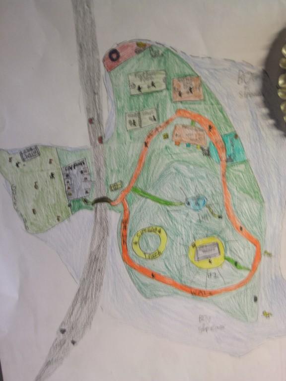Fourth place, age 10-12, McCarthy's Design a Public Park Art Competition