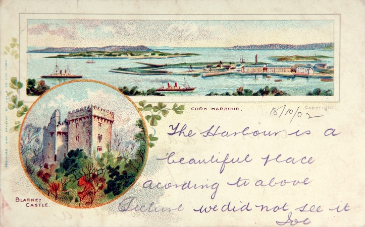 770a. Postcard of Cork Harbour, definitely a landscape to explore and see