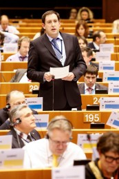Cllr Kieran McCarthy speaking at the EU's Committee of the Regions, Brussels, February 2015