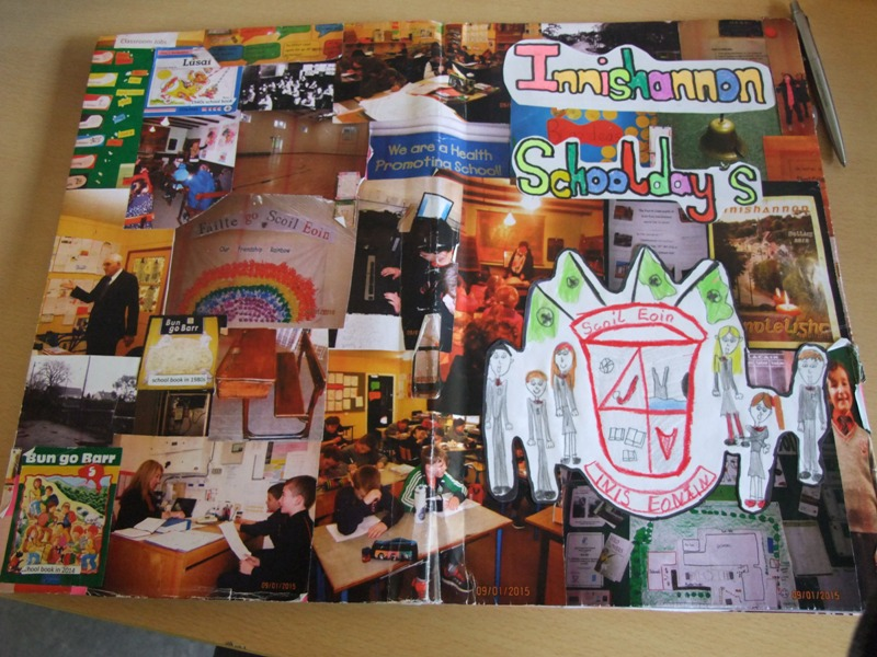 784a. Page from a project on Innishannon National School history from students of fourth class, Innishannon NS