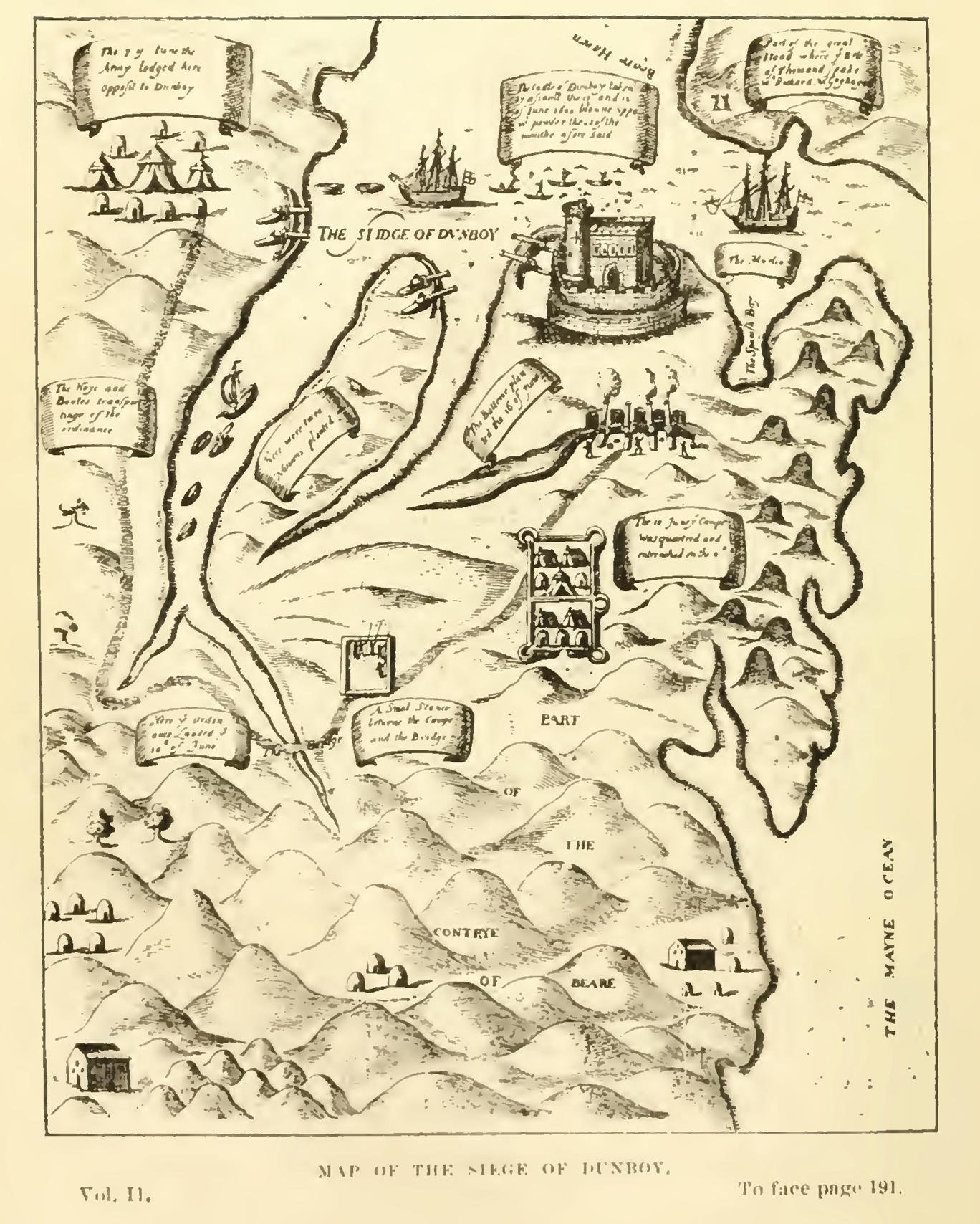 786a.  Map of Siege of Dunboy, late sixteenth century