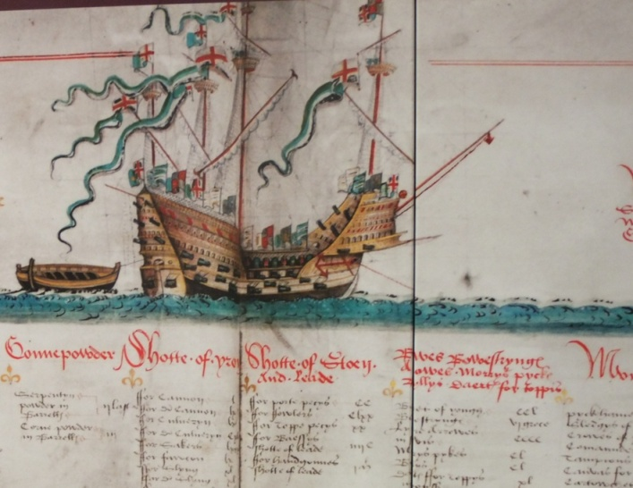 789b. Museum image of Mary Rose, c.1540
