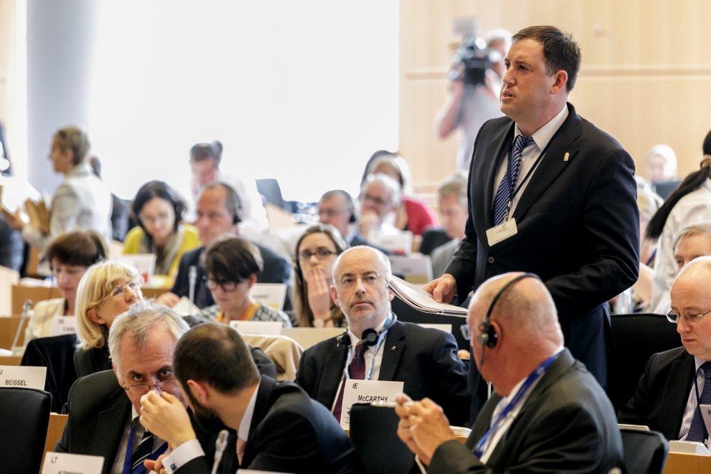Cllr Kieran McCarthy speaking at Committee of the Regions, Plenary 16 April 2015