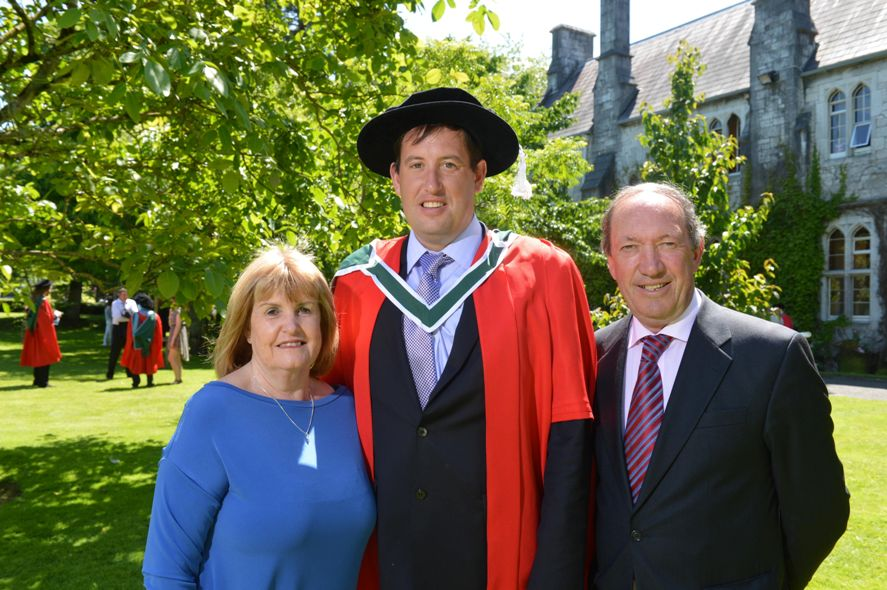 Cllr Kieran McCarthy receiving his PhD in arts and geography, National University of Ireland, Cork, June 2015