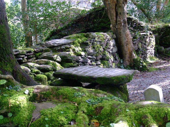 800a. Altar stone, Gougane Barra, insitu before it was stolen