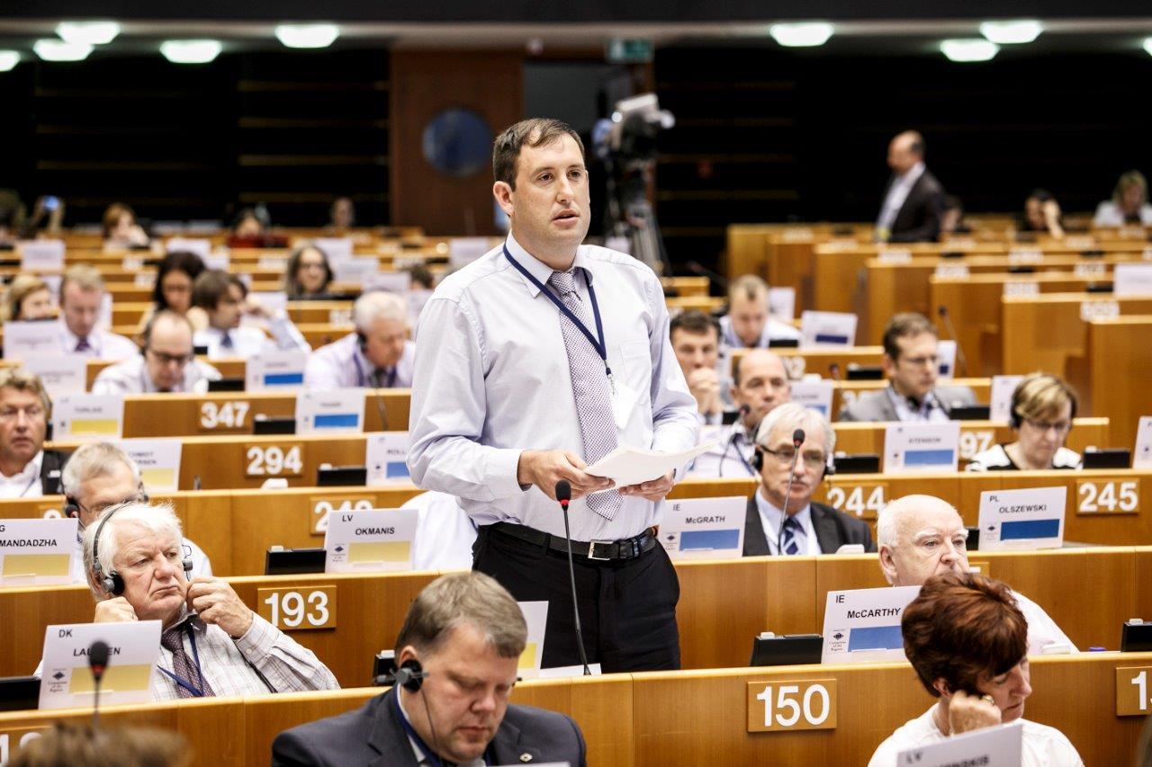 Clllr Kieran McCarthy, Plenary of the EU Committee of the Regions, July 2015