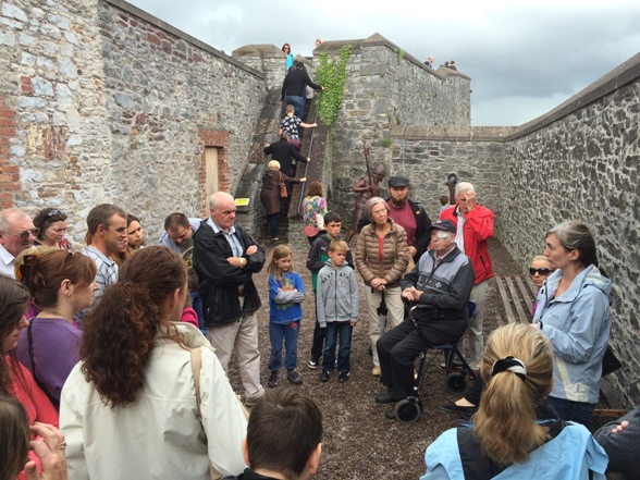 809b. A walking tour getting underway at Elizabeth Fort during the recent Cork Heritage Open Day