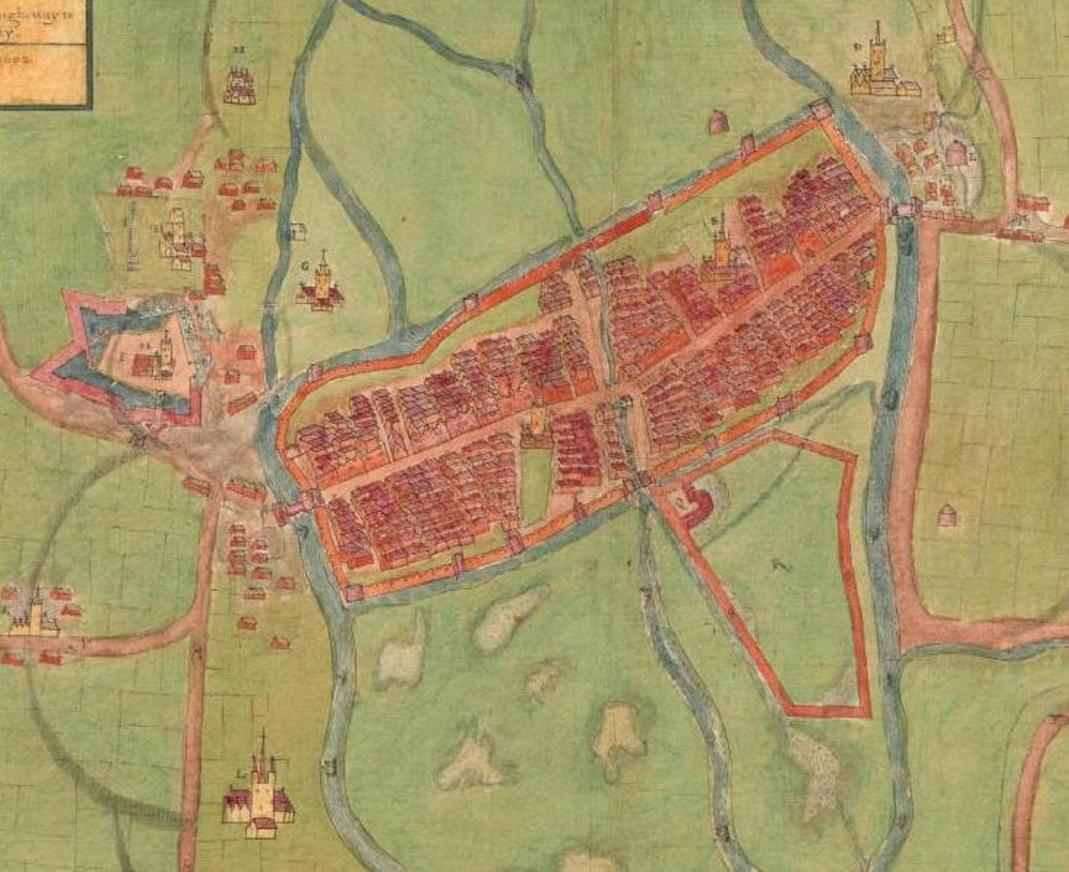 812a. A description of the Cittie of Cork Plan of Cork, circa 1602