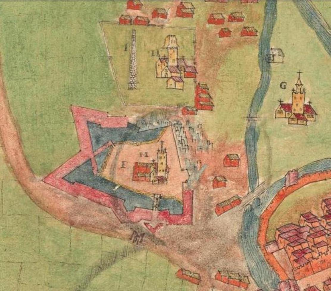 812b. Elizabeth Fort from A description of the Cittie of Cork Plan of Cork, circa 1602