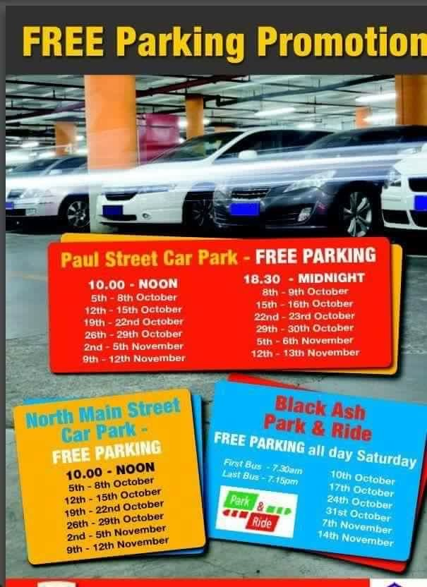 Winter 2015, Cork City Council Parking Initiative in Cork City Centre