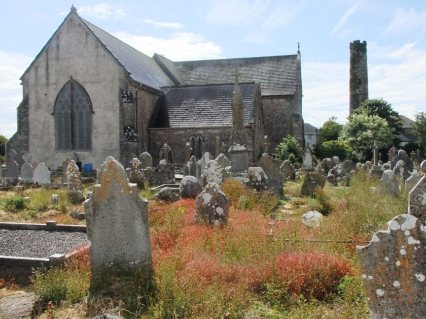 817b. St Colman's Cathedral, Cloyne, Round Tower and graveyard