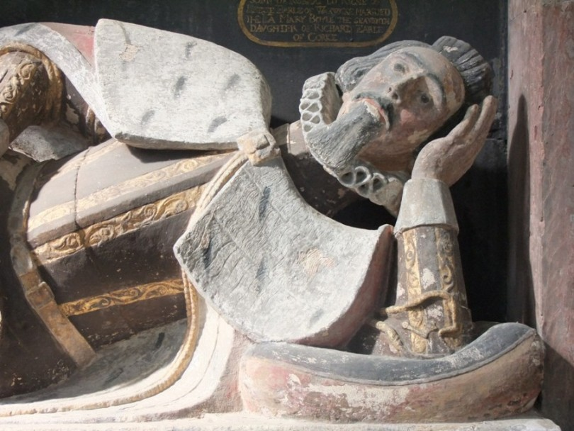 819c. Richard's children in sculpture, Richard Boyle's tomb, St Mary's Church, Youghal