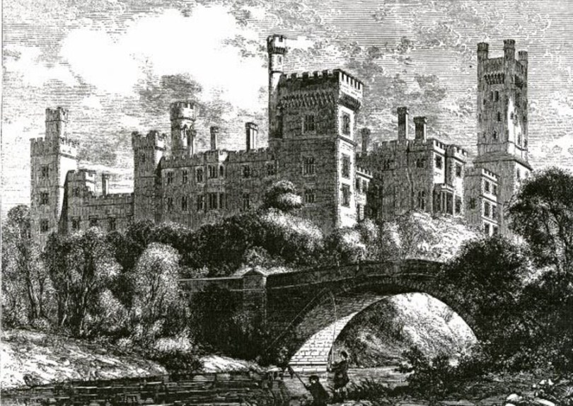 824a. The impressive Lismore Castle from a mid nineteenth century drawing