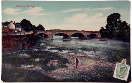 831a. Postcard of Mallow Bridge, eastern side of Mallow, c.1900