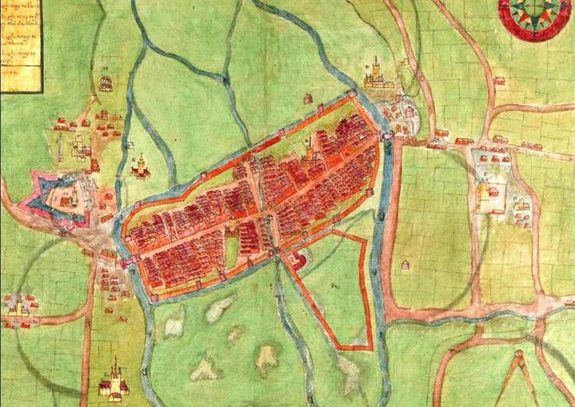 834a. A description of the Cittie of Cork Plan of Cork, circa 1602 by George Carew