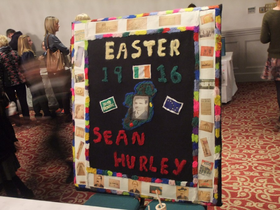 838b. Tapestry from Derryclough NS, Drinagh commemorating the life of 1916 Rising participant, Sean Hurley