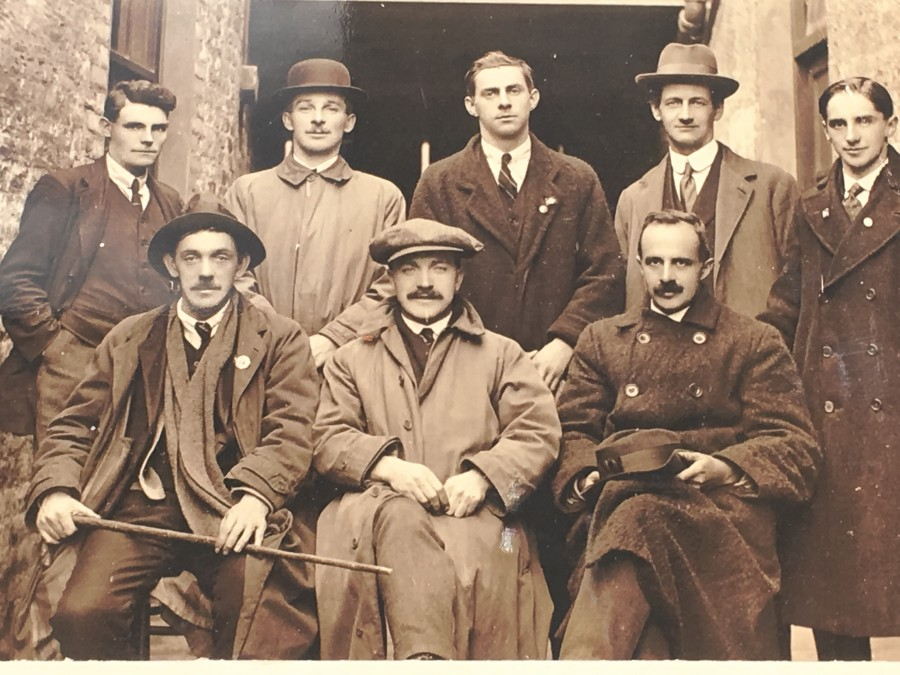 841b.  Photograph of officers of the Cork Brigade outside the office of the Freeman's Journal in Dublin