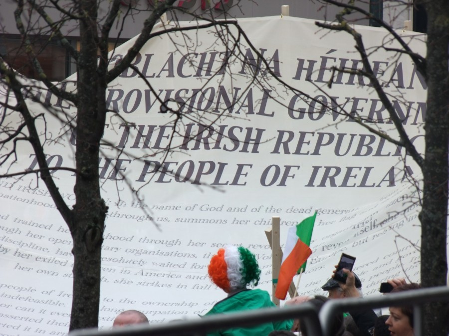 842b. Proclamation banner on display at this year's St Patrick's Day Parade, 2016