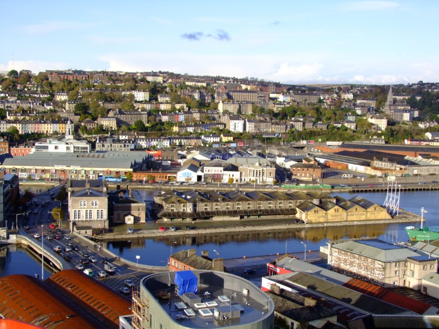 857a.  Custom House and Cork Docks, view from the top of Elysian Tower