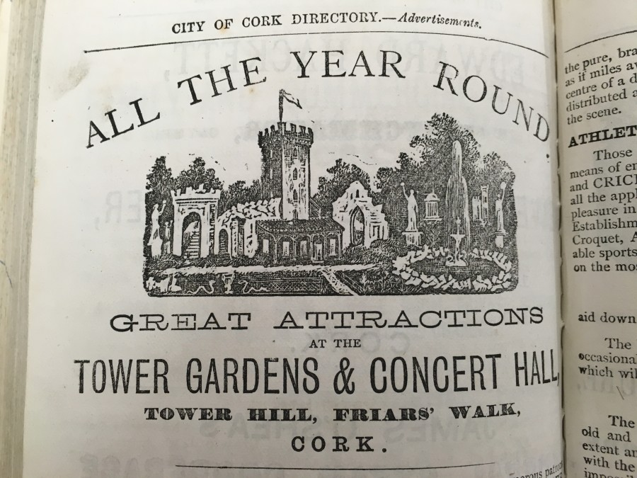 858a. Callanan's Tower, advertisement 1871