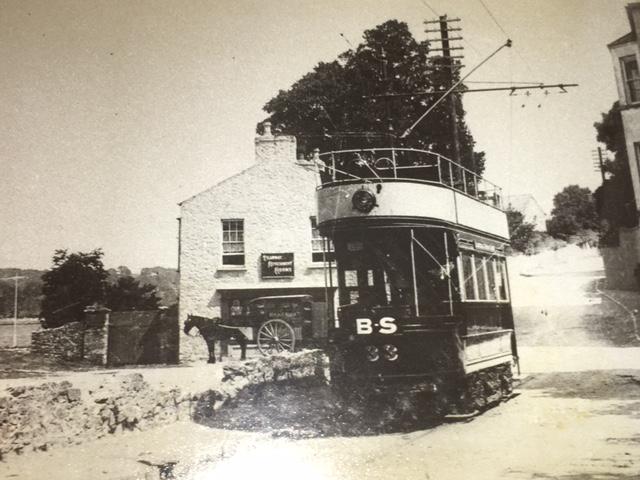 Tram car, Blackrock Pier, c.1910