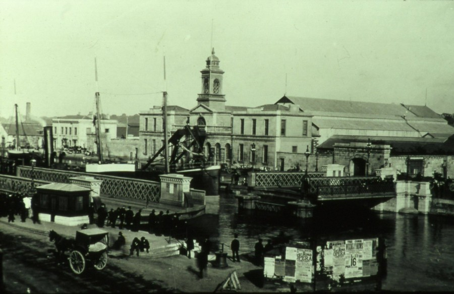 861b. Cork City Hall and Anglesea swing Bridge, c.1910