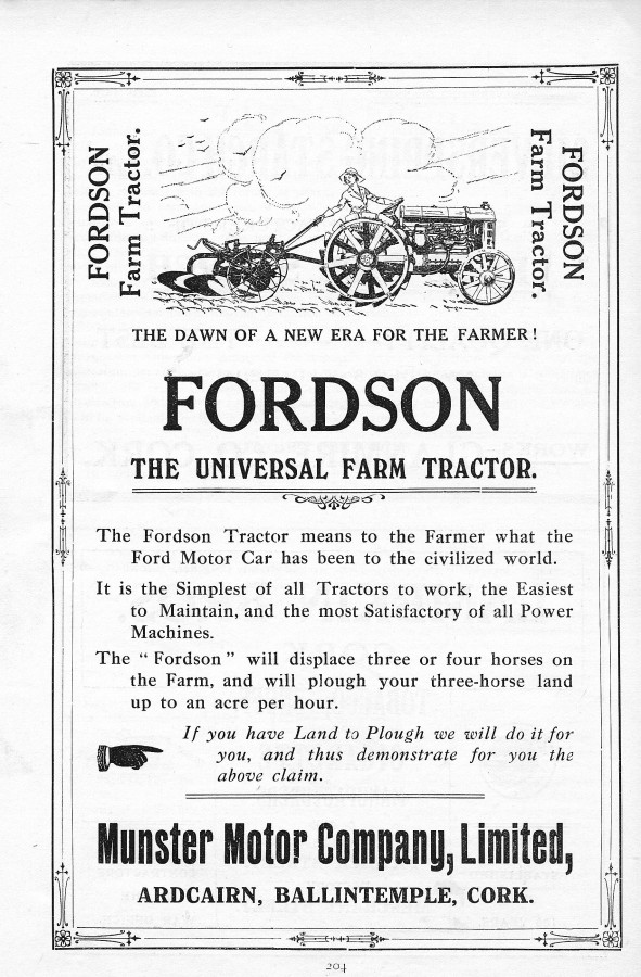 862a. Fordson advertisement, 1919