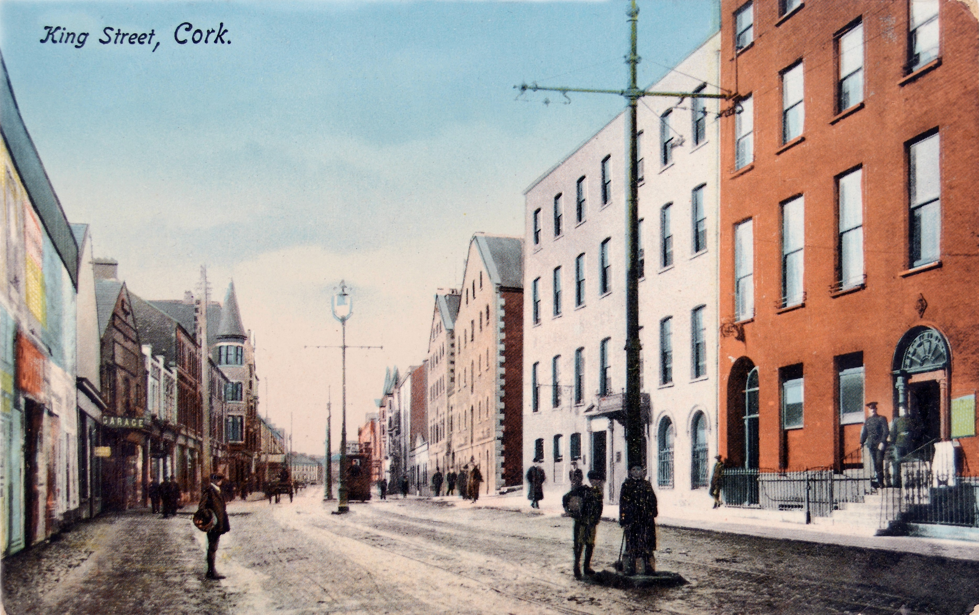 865b. Postcard of King Street, now MacCurtain Street-c-1900, the subject of a walking tour on the 16 October 2016