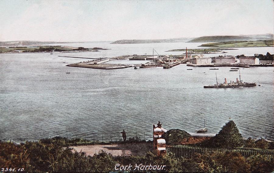 876a. Postcard of Cork Harbour, c.1910