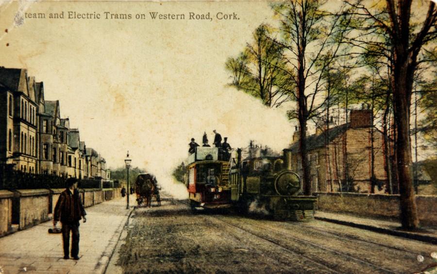 882b. Cork Muskerry Tram Locomotive on Western Road Cork City, c.1910