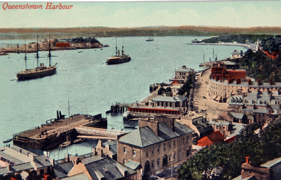 883b. Queenstown, now Cobh & the deep water quay, c.1917