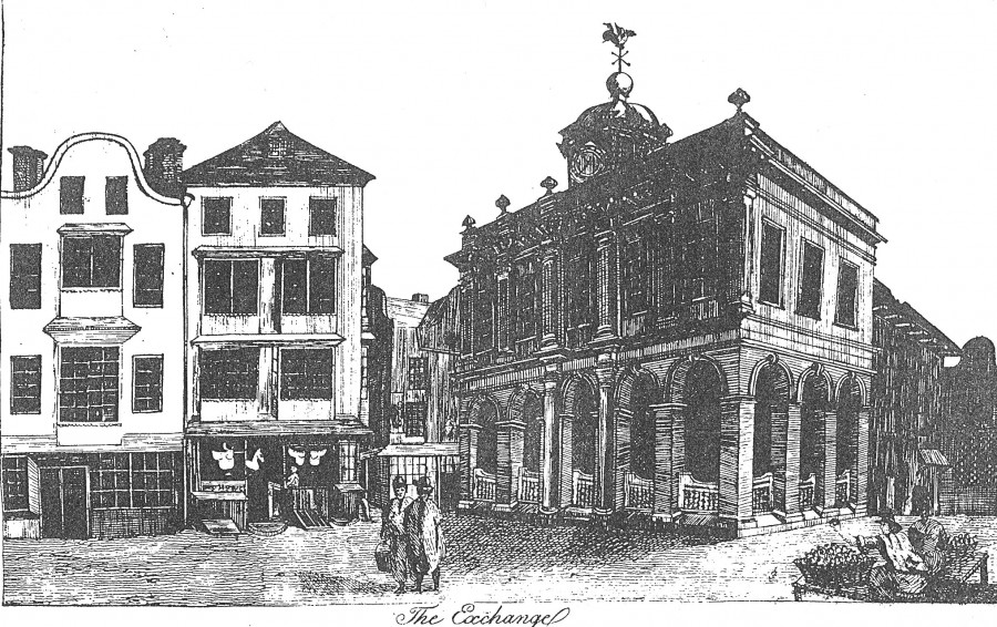 892a. Sketch of Cork Exchange, c.1750