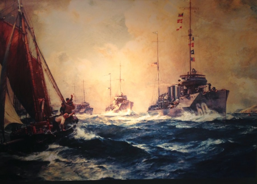 893a. Bernard F. Gribble's Painting, The Return of The Mayflower; Assistant Secretary of the Navy Franklin D Roosevelt commissioned the painting in 1919.