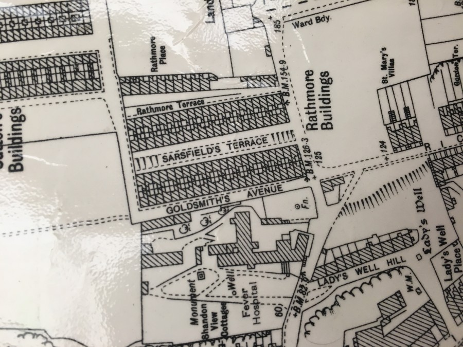 896a. Map of site of Fever Hospital from the 1949 ordnance Survey Map