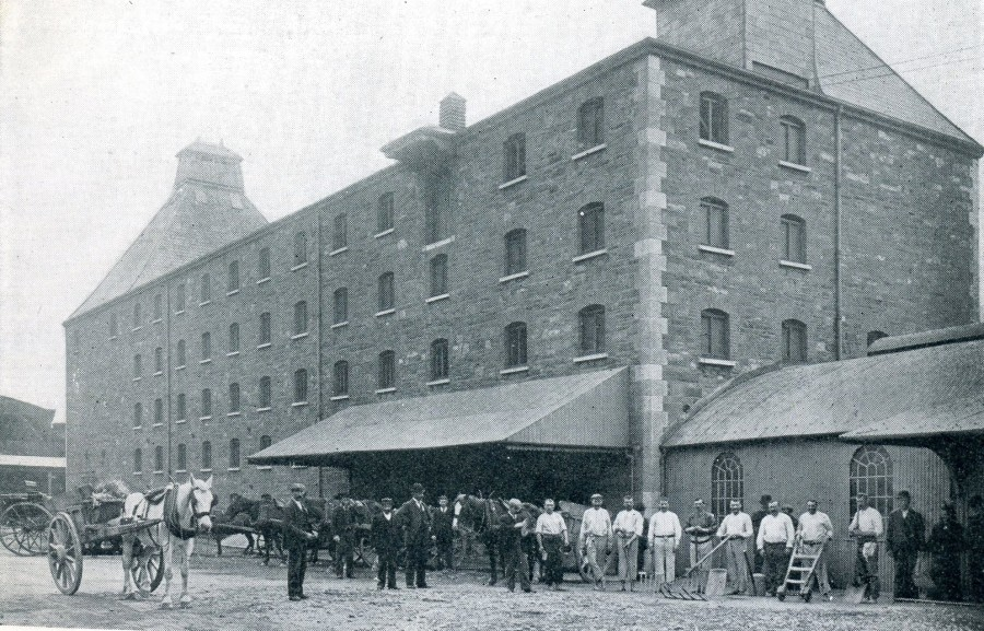 897b. Malt house and yard, Murphy's Brewery, Blackpool, 1903
