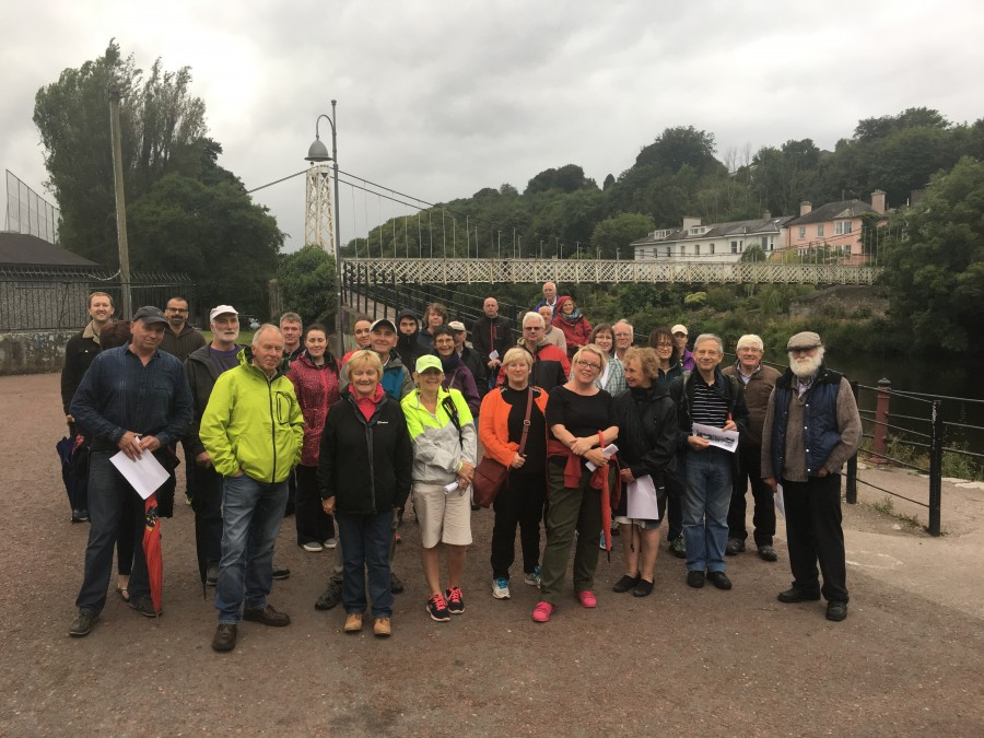 Group on Kieran's historical walking tour of Sunday's Well, July 2017
